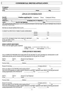 employment form, application form